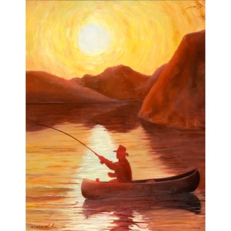 Canoe at Sunset by Ron Richardson
