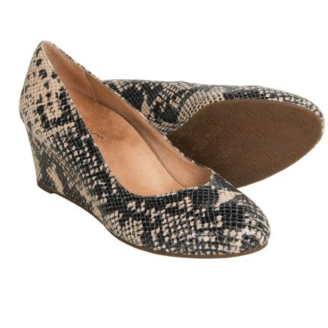 Vionic with Orthaheel Technology Antonia Wedge Pumps - Suede (For Women)