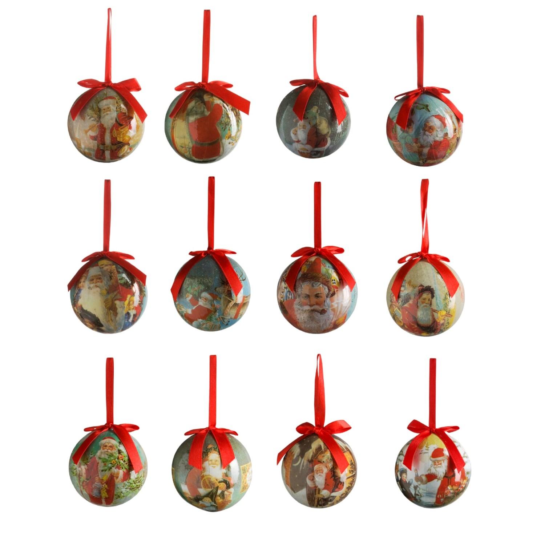 Old fashioned santa ornaments 99