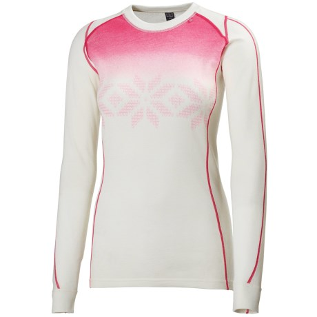 Helly Hansen Warm Ice Base Layer Top - Merino Wool, Crew Neck, Long Sleeve (For Women)
