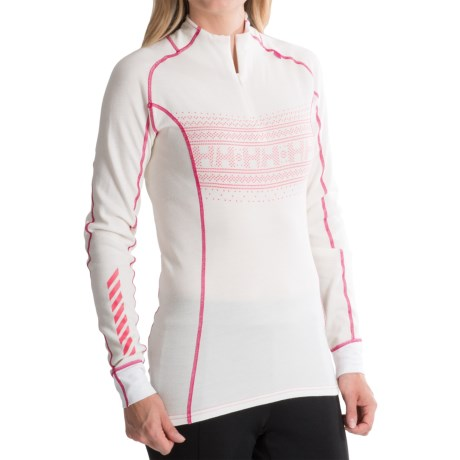 Helly Hansen Warm Freeze Base Layer Top - Merino Wool, Zip Neck, Long Sleeve (For Women)