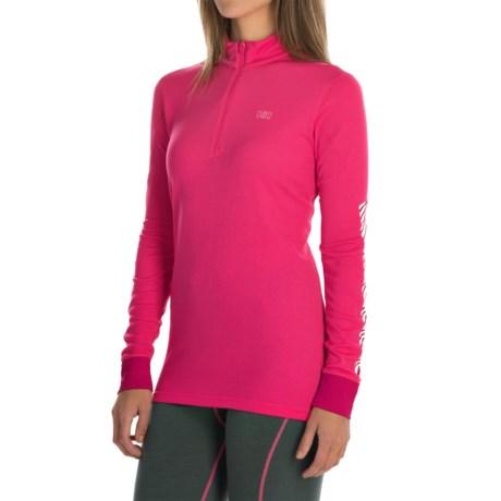 Helly Hansen Active Flow Base Layer Top - Zip Neck, Long Sleeve (For Women)