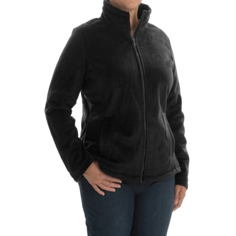 Weatherproof Plush Pile Fleece Jacket (For Plus Size Women)
