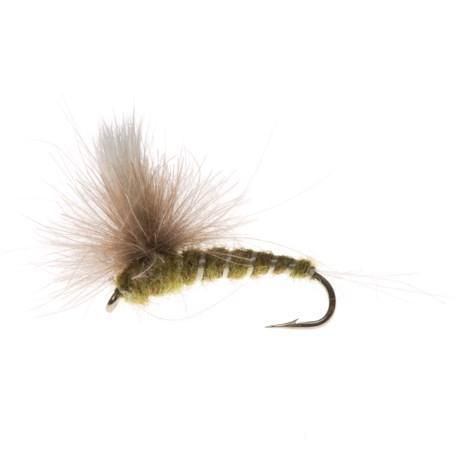 Specially made CDC Para Green Dry Fly - Dozen