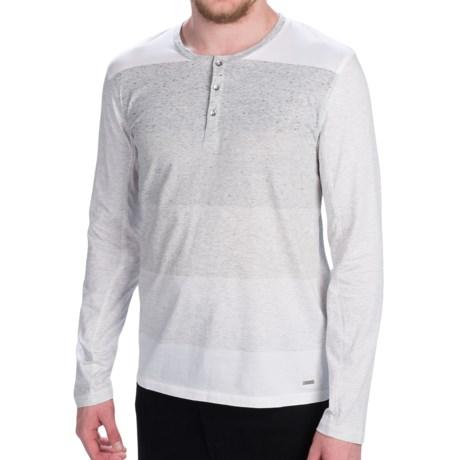Calvin Klein Cotton Henley Shirt - Long Sleeve (For Men)