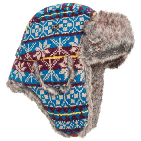 Mad Bomber® Knit Snowflake Aviator Hat - Faux-Fur Lining, Insulated (For Men and Women)