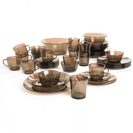 Duralex Lys Glass Dinnerware Service Set - 44-Piece