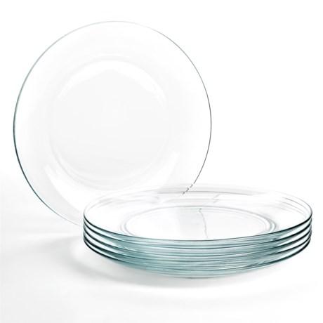 "Duralex Lys Clear Dinner Plates - 9"", Set of 6"