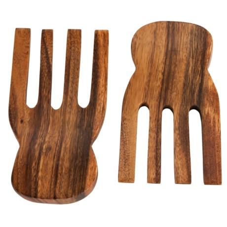 Core Bamboo Acacia Traditional Salad Hands