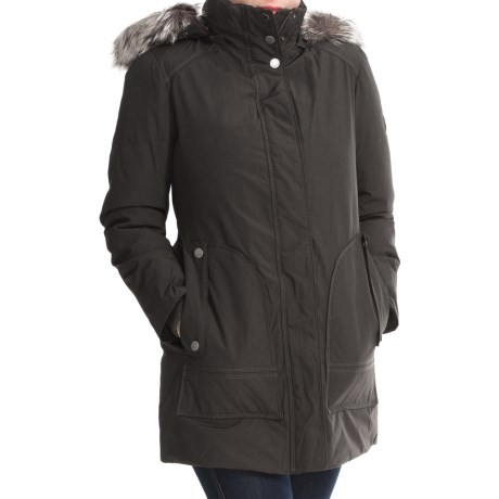 London Fog Fly Front Jacket - Faux-Fur Trim (For Women)