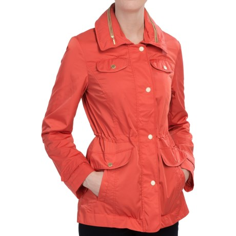 Ellen Tracy Outerwear Ellen Tracy Techno Anorak Jacket - Storm Flap, Stowaway Hood (For Women)
