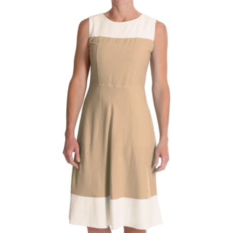 Pendleton Tradewind Color-Block Dress - Linen-Rayon, Sleeveless (For Women)