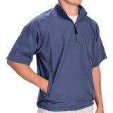 On-Tour Wind Shirt - Zip Neck, Short Sleeve (For Men and Big Men)