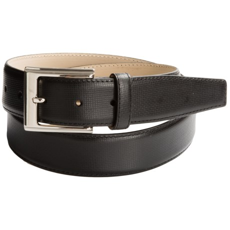 Di Stefano Subtly Textured Dress Belt - Calfskin (For Men)