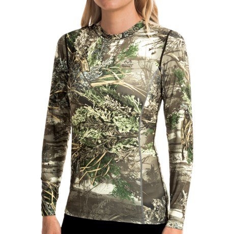 Terramar Camo Essentials Stalker Shirt - UPF 25+, Crew Neck, Long Sleeve (For Women)