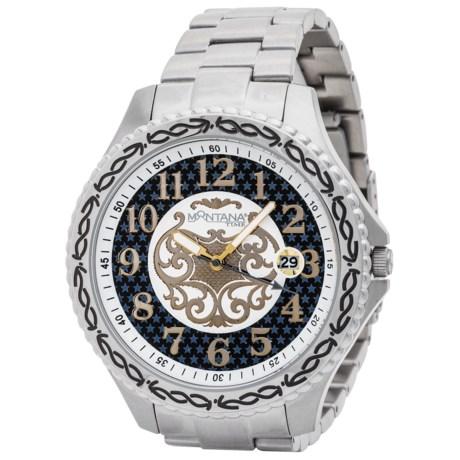 Montana Silversmiths Master Timekeeper Bracelet Watch (For Men)