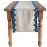 "Coyuchi Bold Embroidered Linen Table Runner - 18x90"""