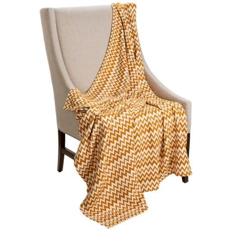 "Coyuchi Zigzag Matelasse Coverlet/Throw Blanket - 60x47"", Organic Cotton"