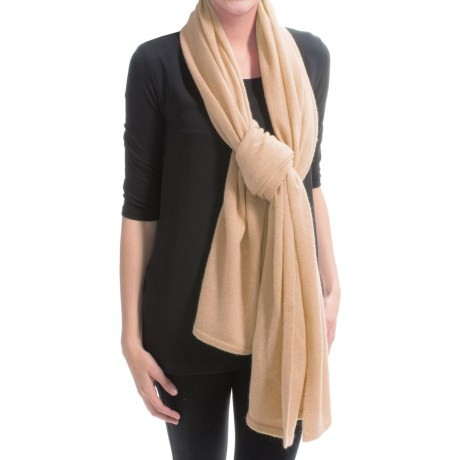 "Minnie Rose Cashmere Travel Blanket/Wrap/Scarf - 76x62"" (For Women)"