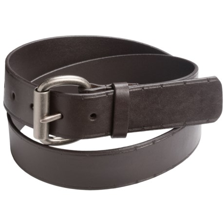American Endurance 42mm Leather Belt - Barbed Wire Embossed Pattern (For Men)