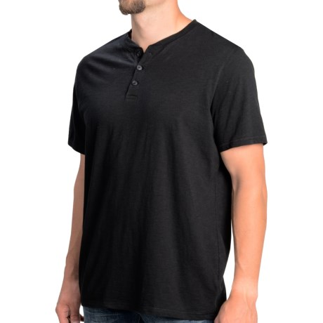 Heathered Henley Shirt - Short Sleeve (For Men)