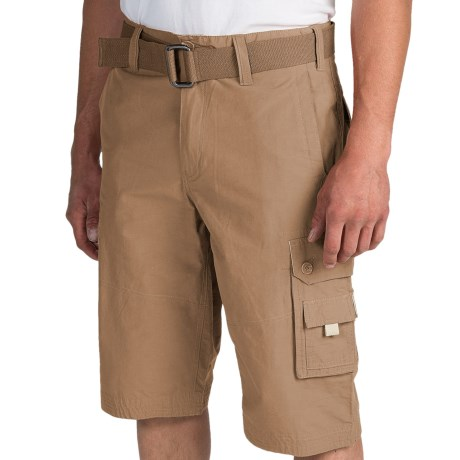 Cotton-Nylon Cargo Shorts (For Men)