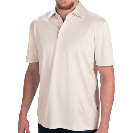 Zimmerli of Switzerland Silk-Cotton Polo Shirt - Short Sleeve (For Men)