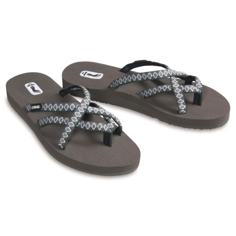 Teva Olowahu Thong Sandals - Mush® Footbed (For Women)