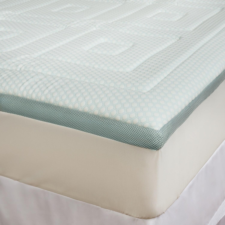 sensorpedic regal cooling foam mattress topper king 9540g save 31. Black Bedroom Furniture Sets. Home Design Ideas