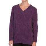 Tracy Lynn Chenille Sweater - V-Neck (For Women)
