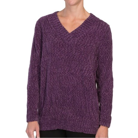 Tracy Lynn Chenille Sweater - V-Neck (For Women)