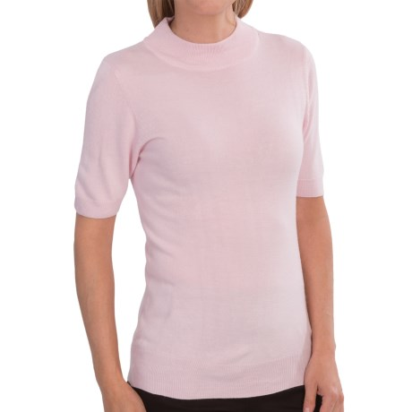 IB Diffusion Sweater - Mock Neck, Short Sleeve (For Women)