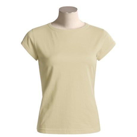 Tsunami Casual Cotton T-Shirt - Short Sleeve (For Women)