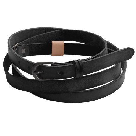 Will Leather Goods Vera Double Wrap Belt (For Women)
