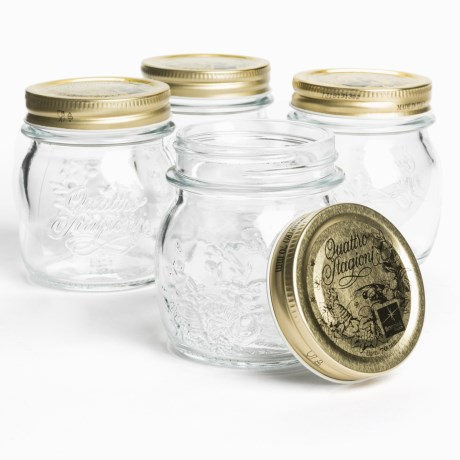 Bormioli Rocco Quattro Stagioni Canning Jars - 8.5 oz., Set of 4