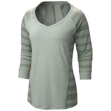 Mountain Hardwear DrySpun Burnout Shirt - UPF 25, Elbow Sleeve (For Women)