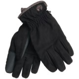 Weatherproof Basic Microsuede Gloves - Touchscreen Compatible (For Men)