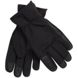 32 Degrees Weatherproof  Soft Shell Gloves - Leather Trim (For Men)