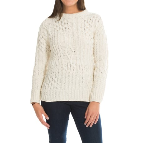 Peregrine by J.G. Glover Aran Sweater - Peruvian Merino Wool (For Women)