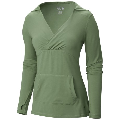 Mountain Hardwear Dryspun Hoodie - UPF 25+, V-Neck (For Women)