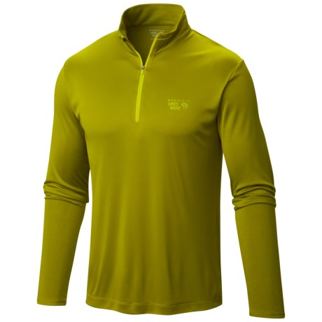 Mountain Hardwear Wicked Shirt - Zip Neck, Long Sleeve (For Men)