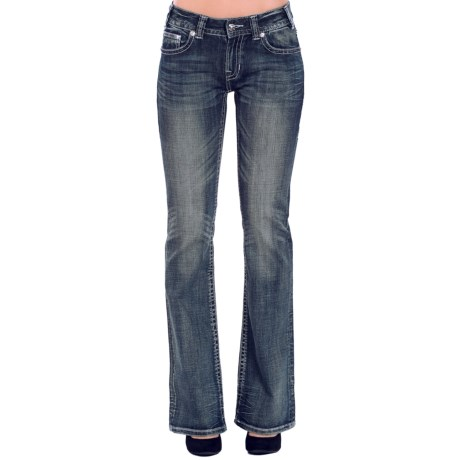 Rock & Roll Cowgirl Fleur-De-Lis Jeans - Mid Rise, Bootcut (For Women)