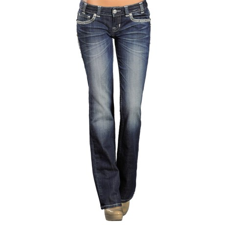 Rock & Roll Cowgirl Multi-Stone Jeans - Low Rise, Bootcut (For Women)