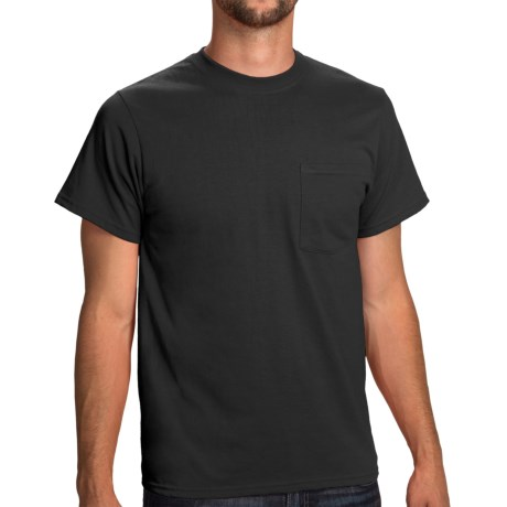 Poly-Cotton Jersey Pocket T-Shirt - Short Sleeve (For Men and Women)
