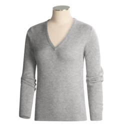 Barbour Classic Lambswool Sweater - V-Neck (For Women)