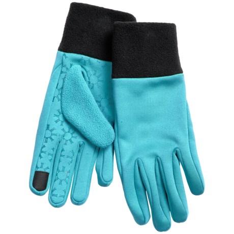 Igloos Jacob Ash  Soft Shell Fleece Gloves - Touchscreen Compatible (For Women)