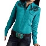 Roper Dobby Stripe Western Shirt - Snap Front, Long Sleeve (For Women)