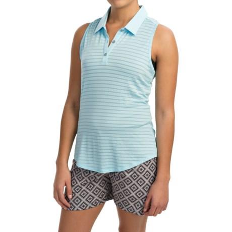 adidas golf ClimaCool® Tour Mesh Stripe Polo Shirt - Sleeveless (For Women)