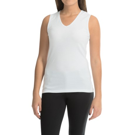 Cuddl Duds SoftWear Tank Top - V-Neck (For Women)