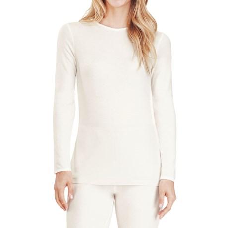 Cuddl Duds Softwear Crew Neck Top - Long Sleeve (For Women)